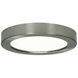 7 inch round LED ceiling light, brushed nickel, 2700K